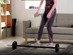 Female's health 20kg weights exercise regimen